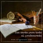 Carta abierta al profesorado